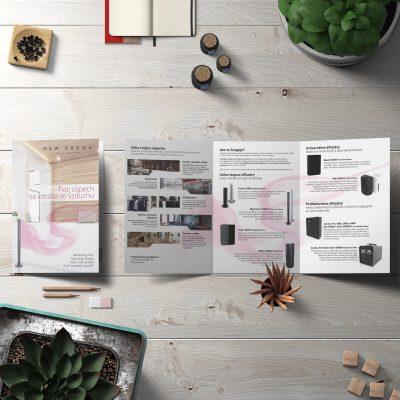 Grafický návrh brožúry NewAroma Topoľčany